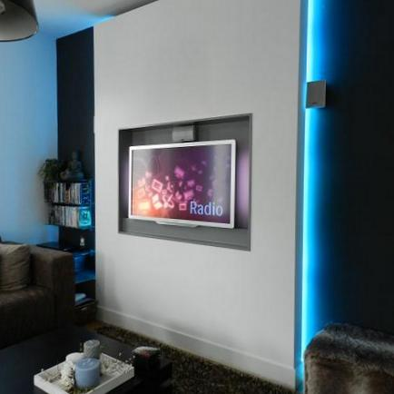 Kleur van het jaar 2019 spiced honey - Moderne tv wand ...
