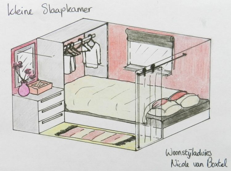 Kleine slaapkamer inrichten for 3d slaapkamer inrichten