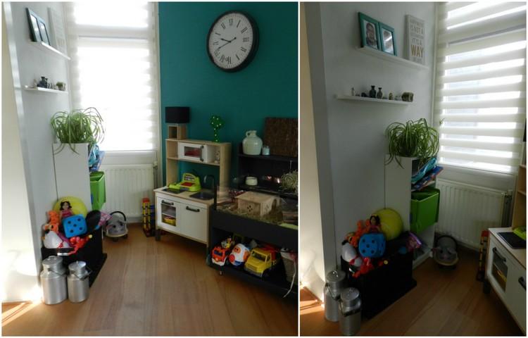 en dan te bedenken dat we ook nog een afgesloten speelgoedkast en speelgoedkist elders in de woonkamer hebben staan tijd voor een metamorfose dus